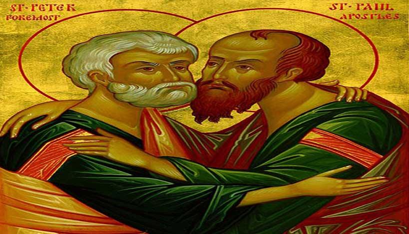 Ορθόδοξος συναξαριστής 29 Ιουνίου 2018, Άγιοι Πέτρος και Παύλος Πρωτοκορυφαίοι Απόστολοι