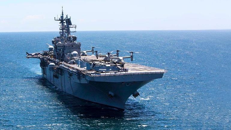 Το Iwo Jima έριξε άγκυρα στη Λεμεσό