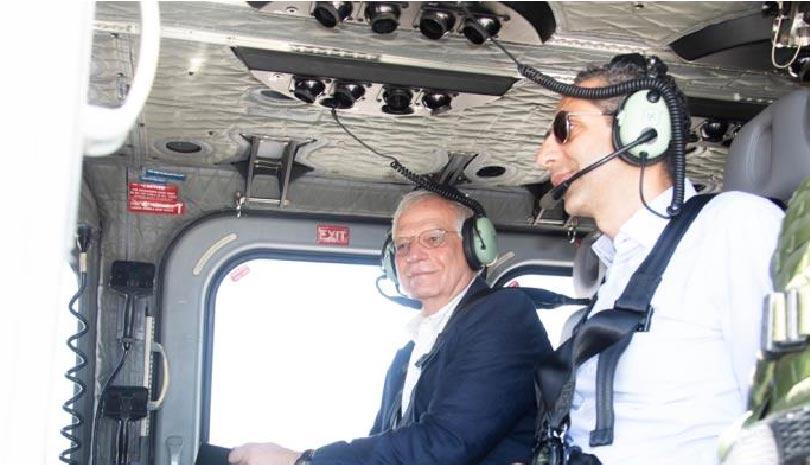 Κύπρος: Πάνω από την κυπριακή ΑΟΖ Μπορέλ, ΥΠΑΜ και Αρχηγός Ε.Φ. (εικόνες & βίντεο)