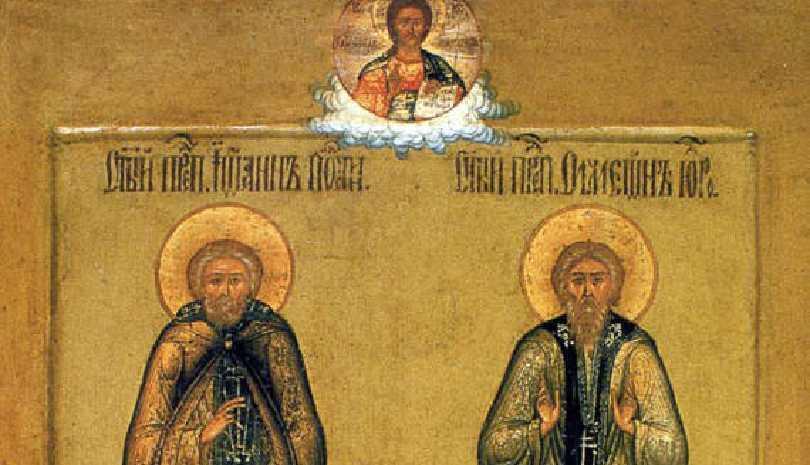 Άγιοι Ιωάννης και Συμεών - Τα θαυμαστά γεγονότα στην έρημο